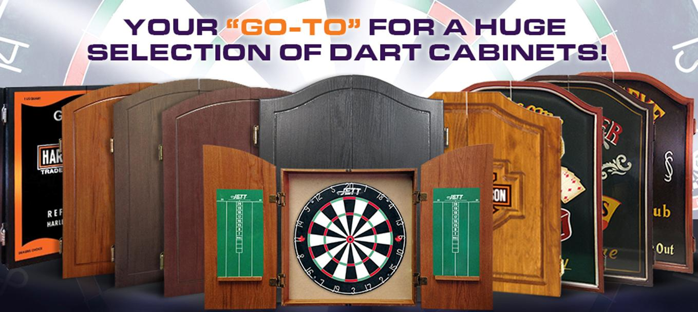The Source for Dart Board Cabinets