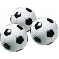 Engraved Black and White SoccerFoosball Balls (4 pack)