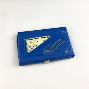 Double 6 Mini Ivory Dominoes with Vinyl Case