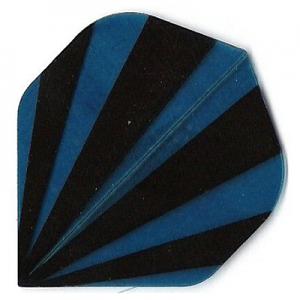 Polyester Flights - Blue and Black Stripes