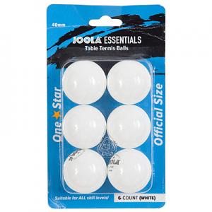 Joola Essentials 1 Star 6 Pack Balls White