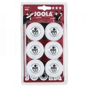Joola Rossi 3 Star 40mm White 6 Pack