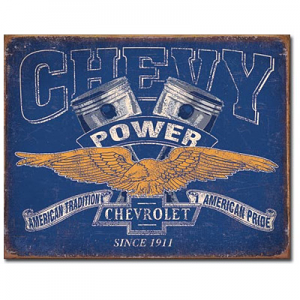 Chevy Power Tin Sign