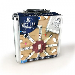 Mexican Train Domino Set in Aluminum Case