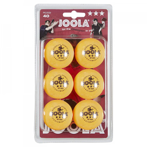 Joola Rossi 3 Star 40mm Orange 6 Pack