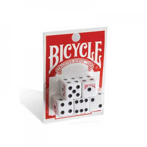 Bicycle 6 Sided Spot Carded 16 mm Dice (5 pack)
