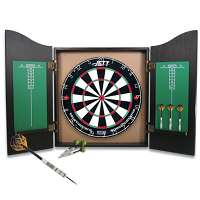 Jett Black Knight Dartboard & Cabinet Set