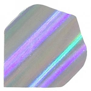 Polyester Foil Flights - Grey/ Silver