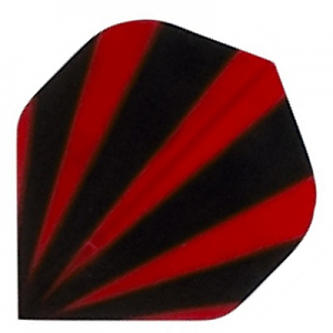 Polyester Flights - Red and Black Stripes