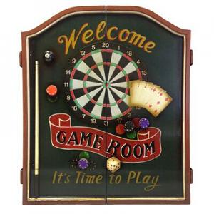 Jett Vintage Pub Game Room Dart Cabinet