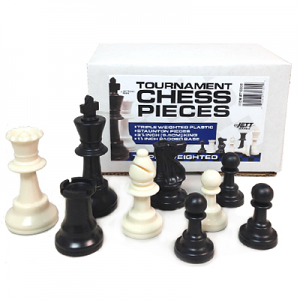 Tournament Plastic Chessman Triple Weighted