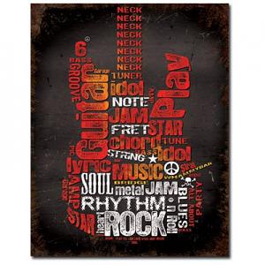 Guitar Inspiration Tin Sign