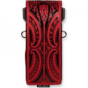 Shot Inked Dart Wallet - Ta Moko-Red