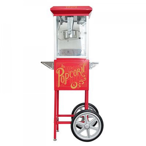 Popcorn Cart Vintage Hot Fresh Collection Red