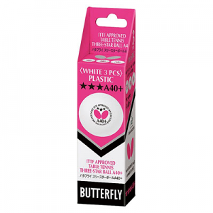Butterfly 3-Star A40+ Ball - 3 Pack
